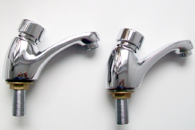 Chrome Self Closing Water Saving Basin Taps - 58006017